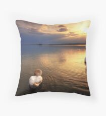 Twilight swans II. Throw Pillow