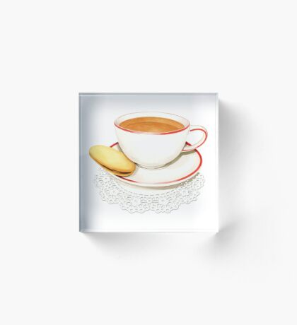 Cup of Tea and a biscuit! Acrylic Block