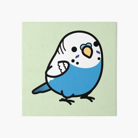 Chubby Blue Budgie - Male Art Board Print
