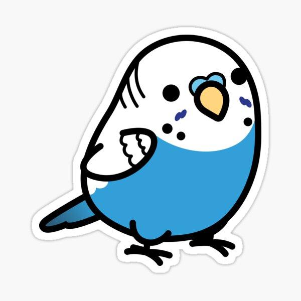 Chubby Blue Budgie - Male Sticker