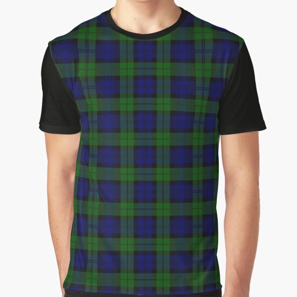 Black Watch Plaid - Scottish Heritage Tartan Graphic T-Shirt