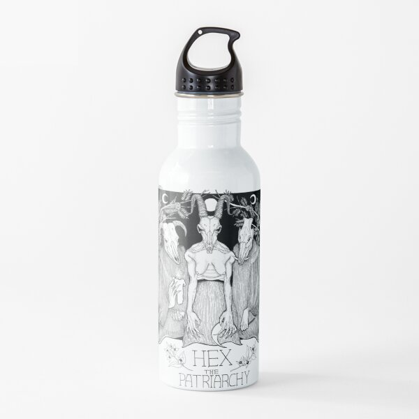 Hex The Patriarchy witchy feminist design Water Bottle