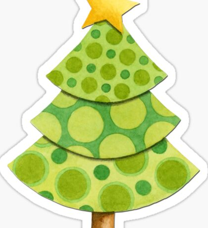 Polka Dot Christmas Lattice Design Sticker