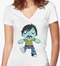 zombiee Women's Fitted V-Neck T-Shirt