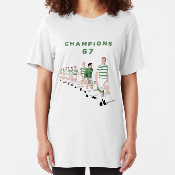 Lisbon Lions - Champions 67 (Green text) Slim Fit T-Shirt