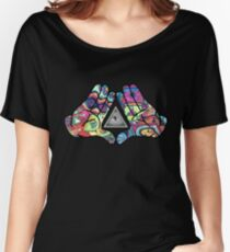 Trippy Illuminati Hands Diamond Women's Relaxed Fit T-Shirt
