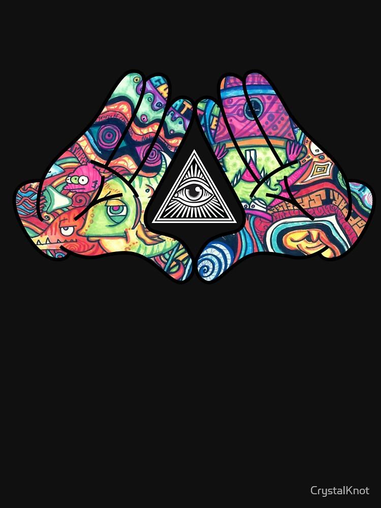 «Mains Trippy Illuminati Diamond» par CrystalKnot