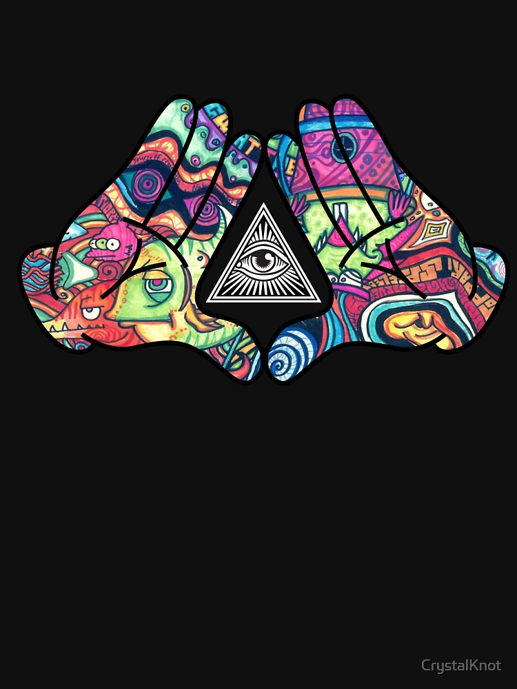 Trippy Illuminati Hands Diamond | Unisex T-Shirt
