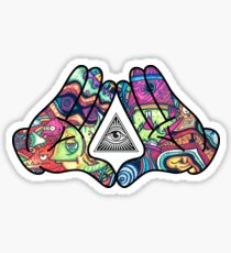 Trippy Illuminati Hands Diamond Sticker