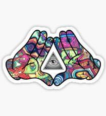 Pegatina Trippy Illuminati Hands Diamond