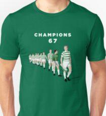 Lisbon Lions - Champions 67 (White text) Unisex T-Shirt
