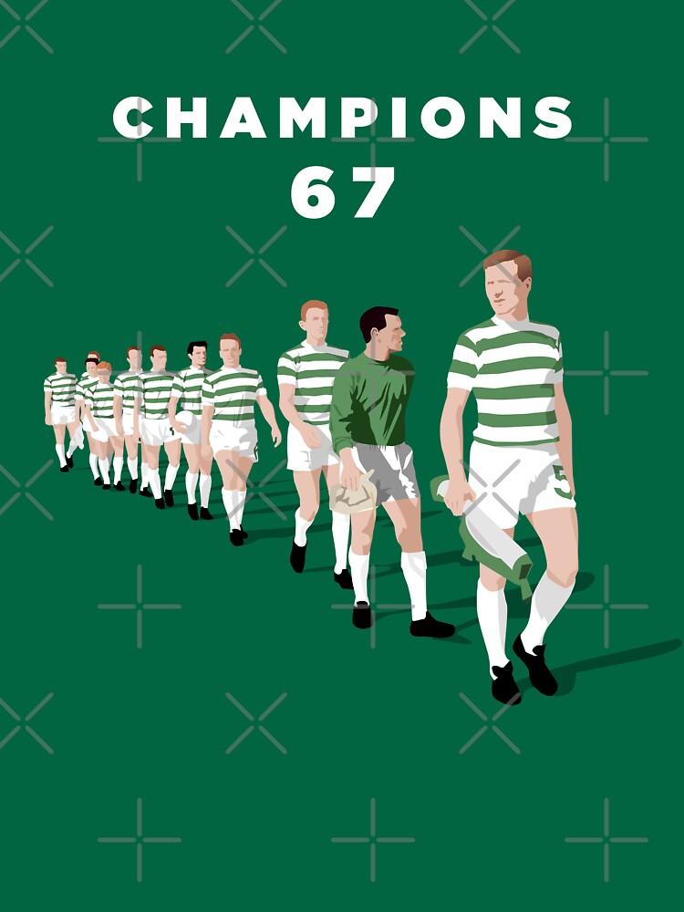 Lisbon Lions - Champions 67 (White text) | Unisex T-Shirt
