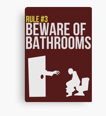 Zombie Survival Guide - Rule #3 - Beware of Bathrooms Canvas Print