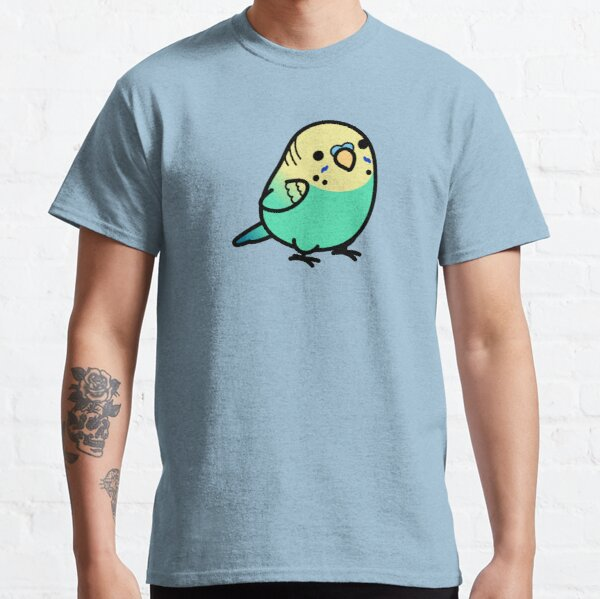 Chubby Sky Blue Yellow-headed Budgie Classic T-Shirt