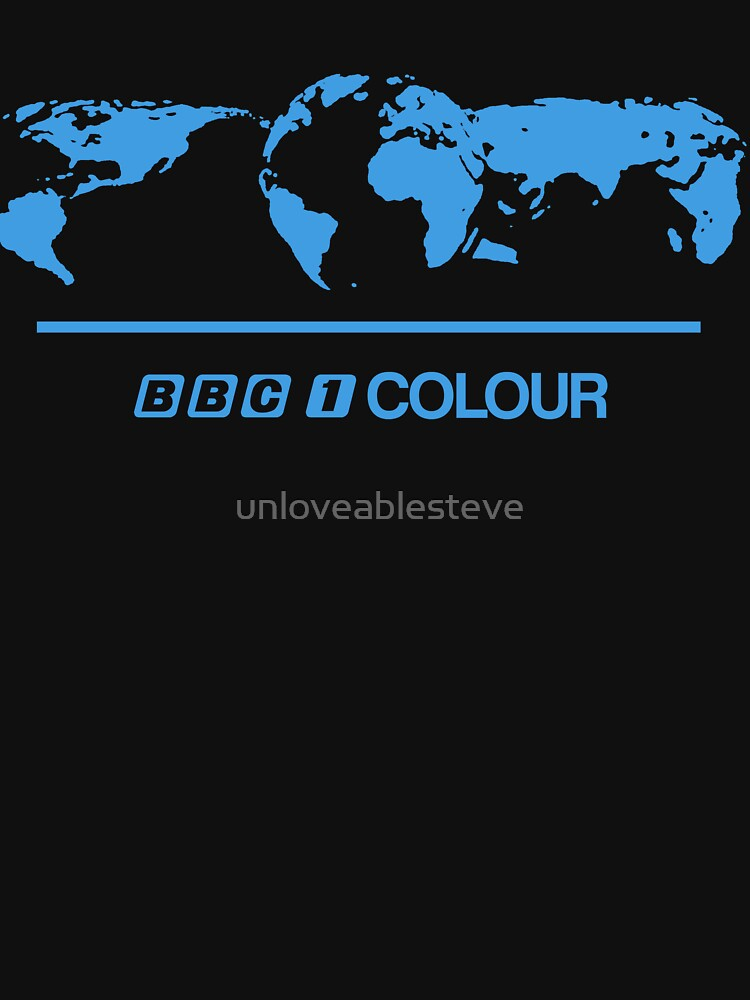 Retro BBC 1 Colour globe graphics | Unisex T-Shirt