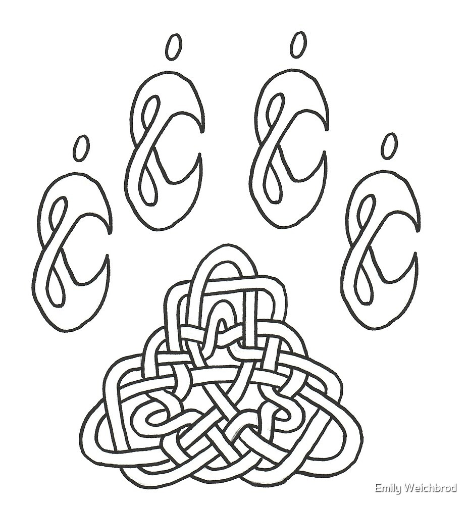 Celtic Pawprint by Emily Weichbrod