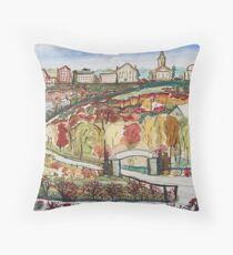College on the Hill Throw Pillow