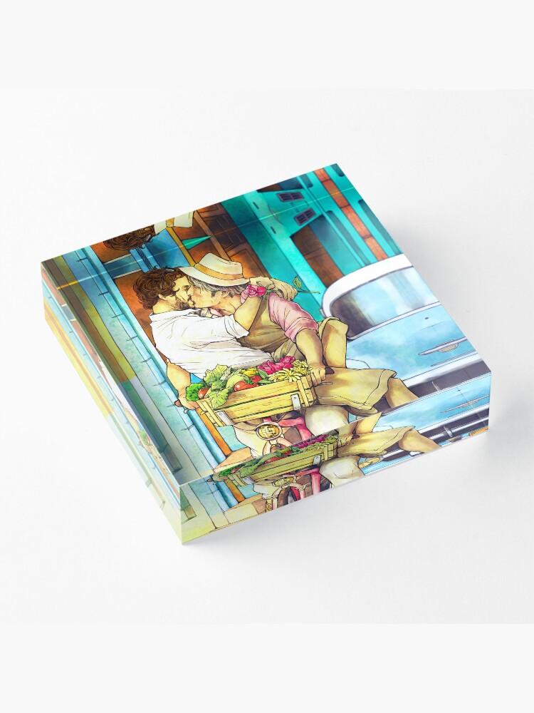 Alternate view of Valentines Hannigram Acrylic Block