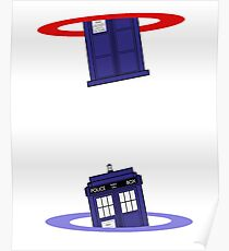 Police Box in a Portal. Poster