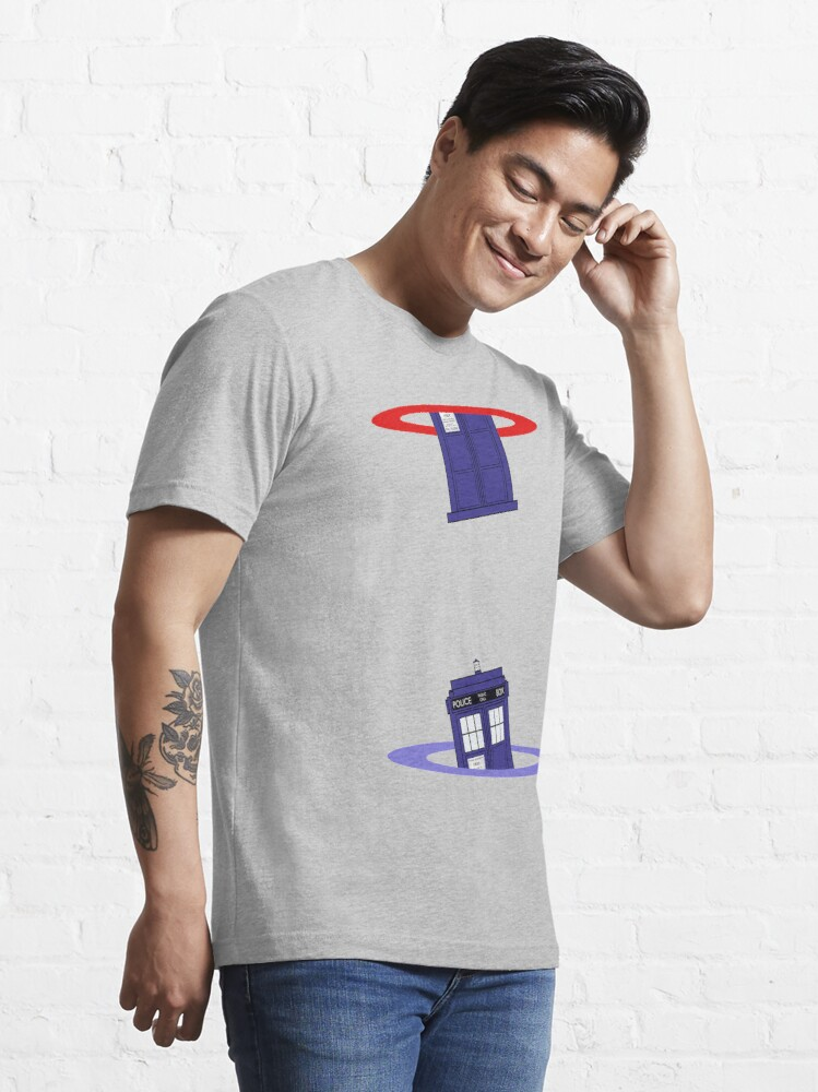 Alternate view of Police Box in a Portal. Essential T-Shirt