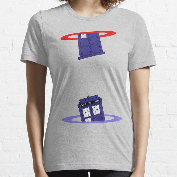 Police Box in a Portal. Essential T-Shirt