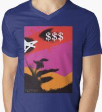 POP FACE Mens V-Neck T-Shirt