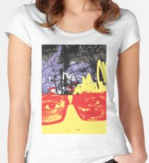 POP FACE 2 Women's Fitted Scoop T-Shirt