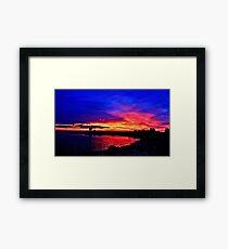 Sunrise over Denison Dam [iPhone - iPod Case] Framed Print