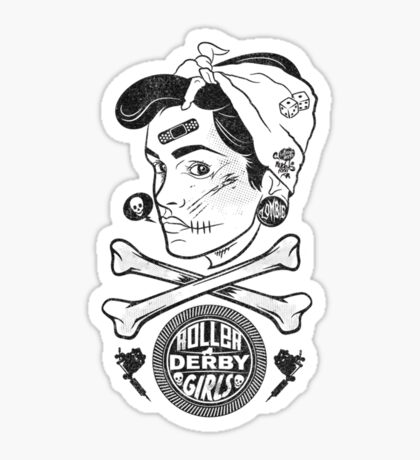 Zombie Roller Derby Girls Sticker