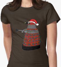 Festive Dalek. Womens Fitted T-Shirt