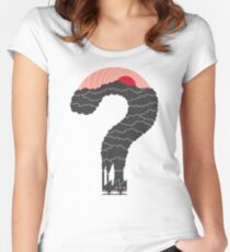 Why? Women's Fitted Scoop T-Shirt