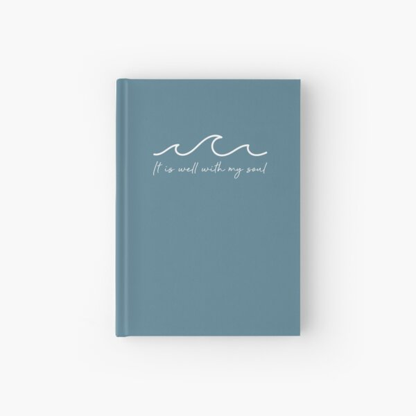 It Is Well With My Soul Waves Hardcover Journal