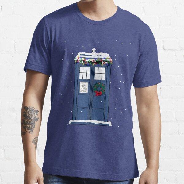 Festive Police Public Call Box. Essential T-Shirt