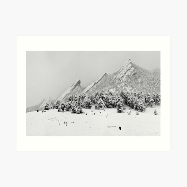 Sliding At The Flatirons, Boulder Colorado Art Print