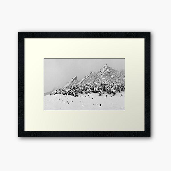 Sliding At The Flatirons, Boulder Colorado Framed Art Print
