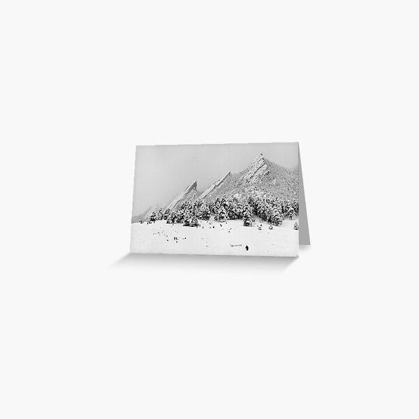 Sliding At The Flatirons, Boulder Colorado Greeting Card