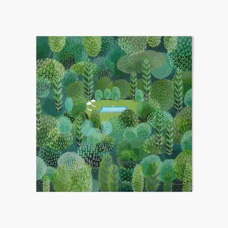 Garden Pool Art Board Print