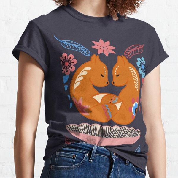 Scandinavian Fox Snuggles Classic T-Shirt