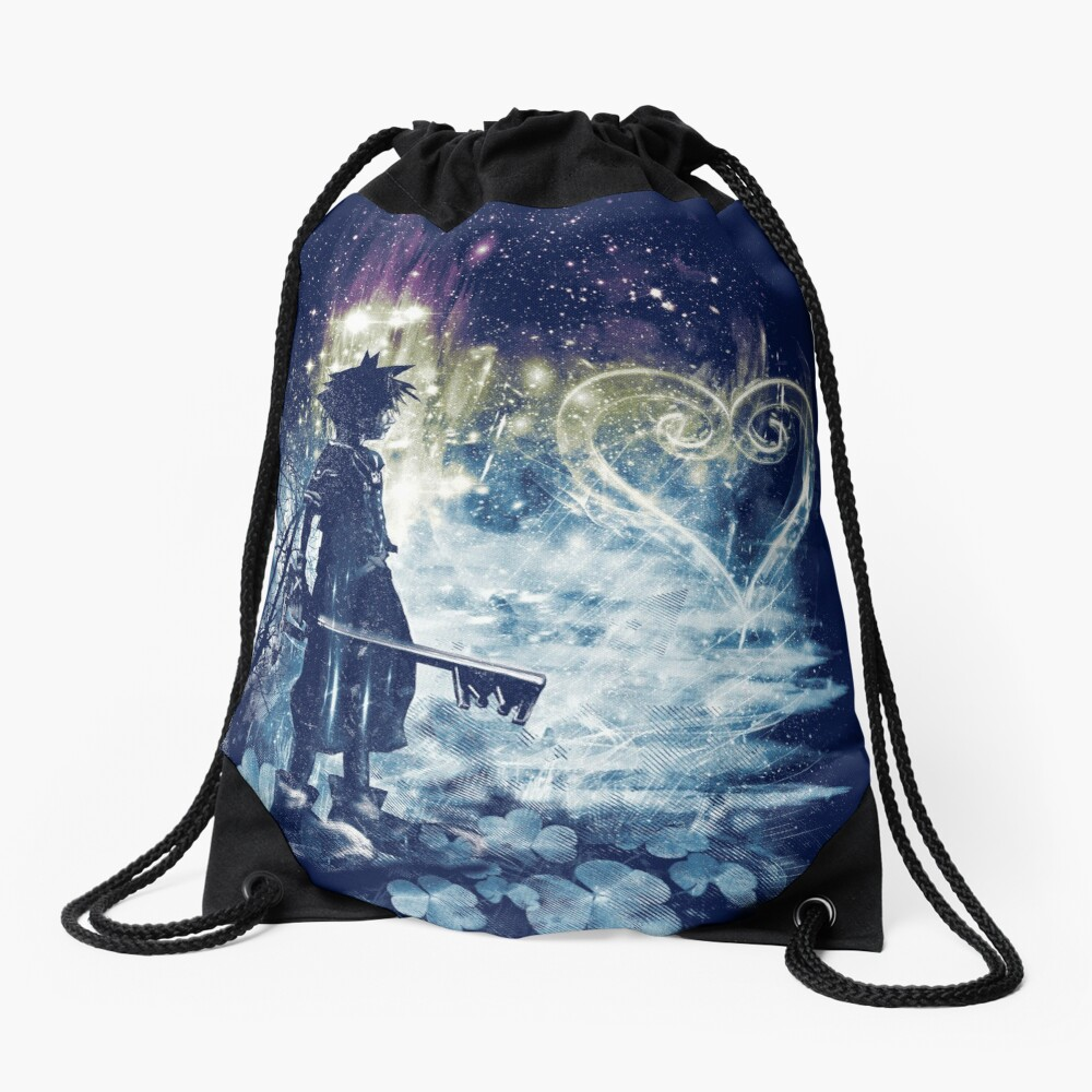 a path to the heart Drawstring Bag