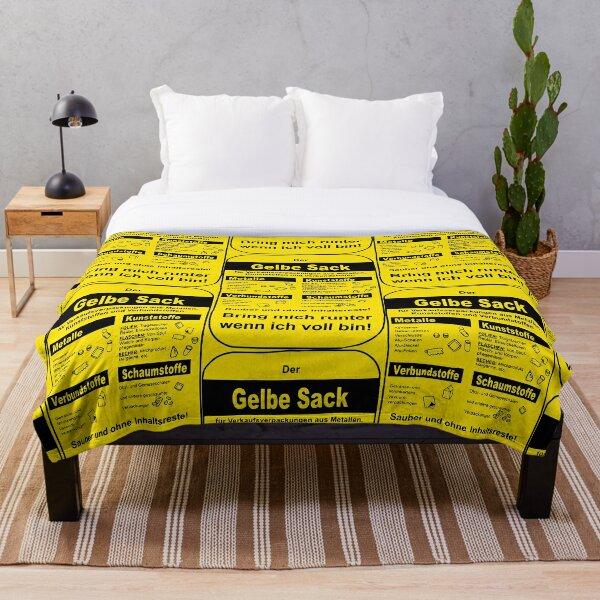 The yellow bag Throw Blanket