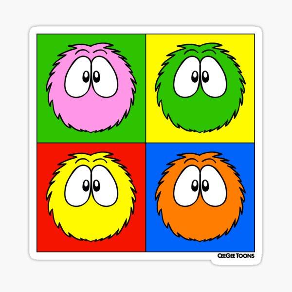 Popart Fluffballs Sticker