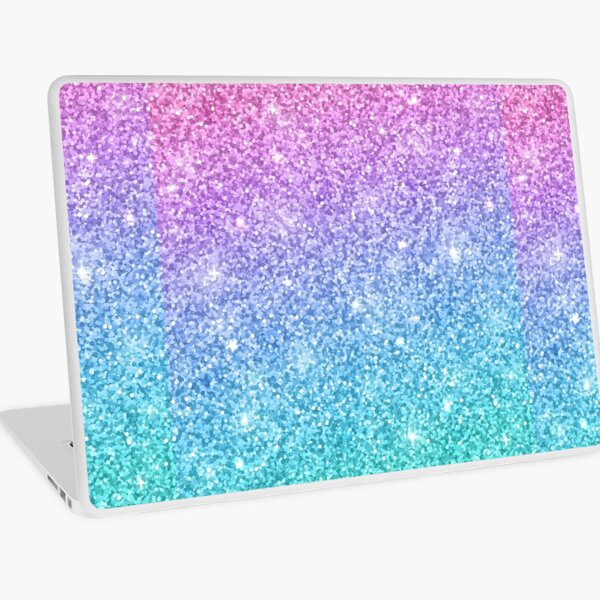 Purple Turquoise Glitter Ombre  Laptop Skin