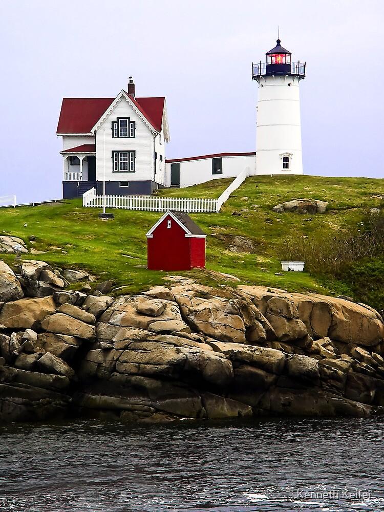 Cape Neddick's Nubble LIght, York, Maine by Kenneth Keifer