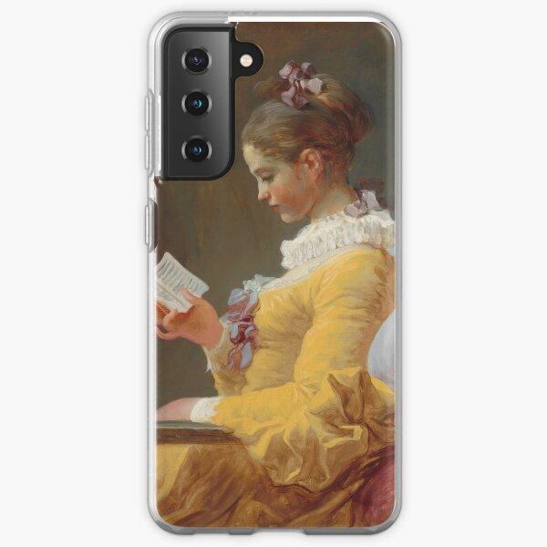 Jean-Honoré Fragonard - A Young Girl Reading - The Reader - Jeune Fille lisant Samsung Galaxy Soft Case