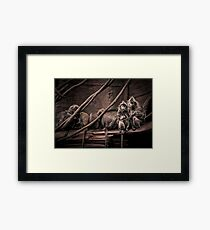 Silver leaf Monkeys in the style of Dorothea Lange Framed Print