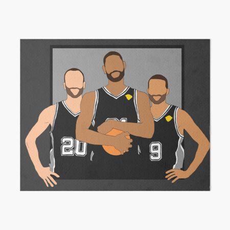 The Spurs' Big 3 Art Board Print