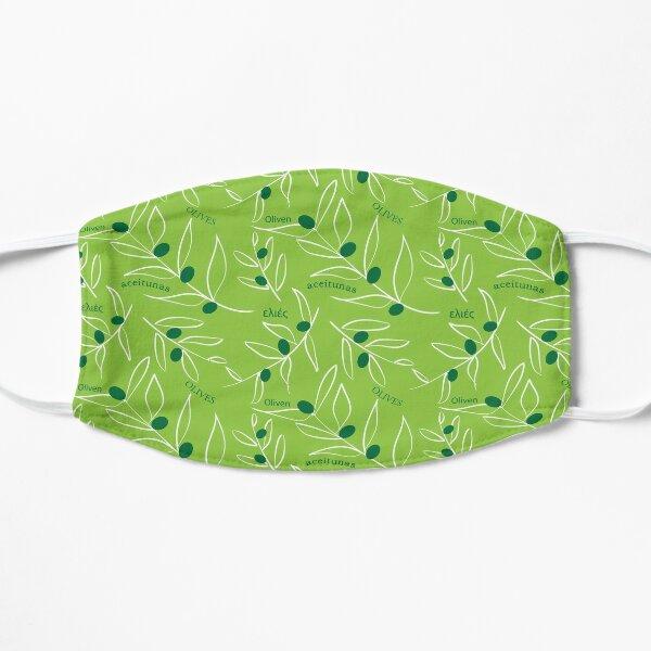 Motif vert olive Masque sans plis