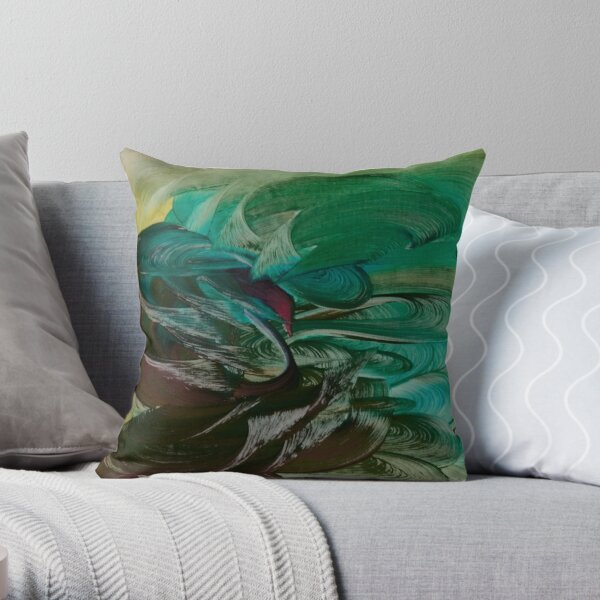 Water Goddess Throw Pillow