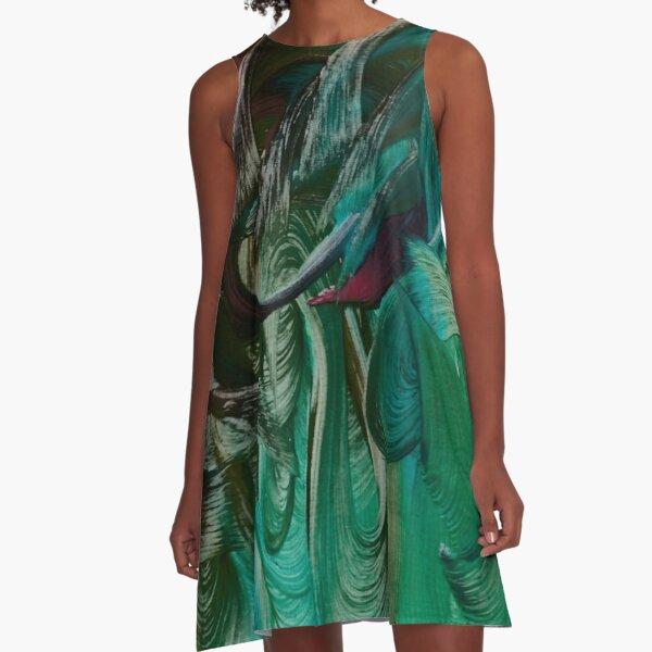 Water Goddess A-Line Dress