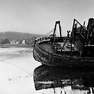 Derelict Fishing Boat, Salen, isle of Mull, inner Hebrides, Scotland by Iain MacLean